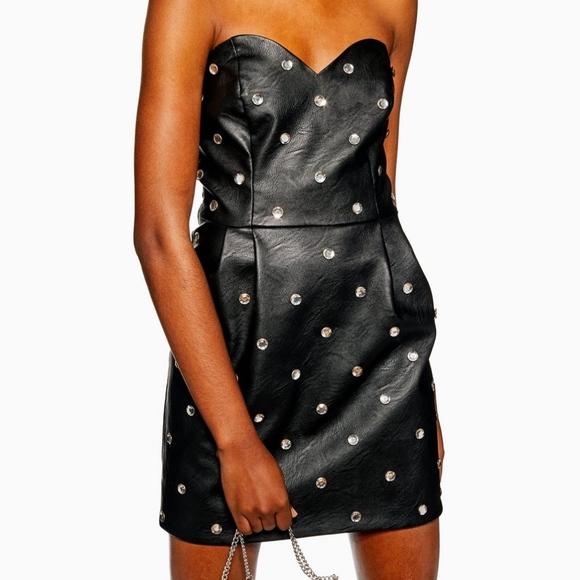 8547f56fadb7 Topshop Dresses | Nwt Crystal Embellished Mini Dress | Poshmark